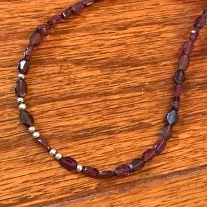 Jewelry - Garnets and sterling silver choker